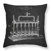 1903 Bottle Filling Machine Patent - Charcoal Throw Pillow
