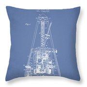 1903 Electric Metronome Patent - Light Blue Throw Pillow
