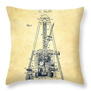 1903 Electric Metronome Patent - Vintage Throw Pillow