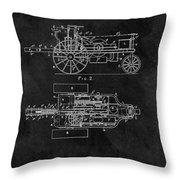 1903 Tractor Blueprint Patent Throw Pillow