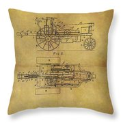 1903 Tractor Patent Throw Pillow