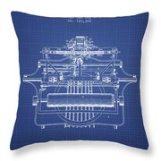 1903 Type Writing Machine Patent - Blueprint Throw Pillow