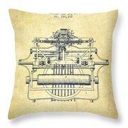1903 Type Writing Machine Patent - Vintage Throw Pillow
