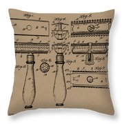 1904 Gillette Razor Patent Drawing Throw Pillow