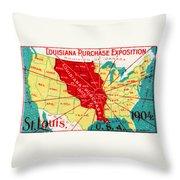 1904 Louisiana Purchase Exposition Throw Pillow