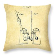 1904 Metronome Patent - Vintage Throw Pillow
