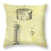 1905 Drum Patent Throw Pillow