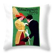 1905 Prague Fashion Poster Throw Pillow