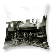 1905 Rail Engineers And Engine 1134 Throw Pillow