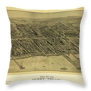 1906 Bird's Eye View Coney Island Throw Pillow