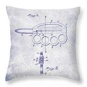 1906 Oyster Shucking Knife Patent Blueprint Throw Pillow