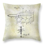 1906 Oyster Shucking Knife Patent Throw Pillow