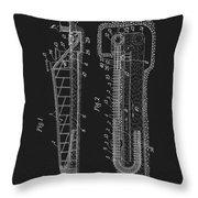 1906 Roller Coaster Patent Throw Pillow