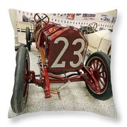1907 Itala Gran Prix Race Car Throw Pillow