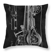 1907 Tractor Blueprint Patent Throw Pillow