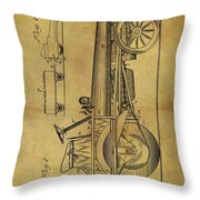 1907 Tractor Patent Throw Pillow