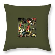 1909 Vasily Kandinsky Throw Pillow