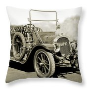 1910 Pope Hartford T Black And White 2 Throw Pillow