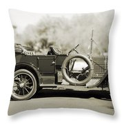 1910 Pope Hartford T Black And White Throw Pillow