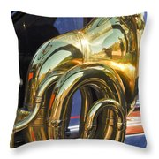 1910 Pope Hartford T Brass Horn Throw Pillow