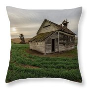1910 Schoolhouse Throw Pillow