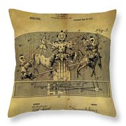 1910 Toy Circus Patent Throw Pillow