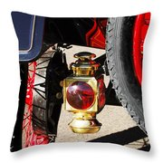 1911 Ford Model T Torpedo Lamp Throw Pillow