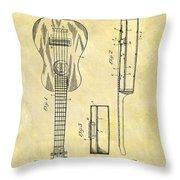 1911 Guitar Patent Throw Pillow
