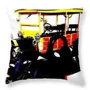 1912 Ford Model T Taxi Throw Pillow
