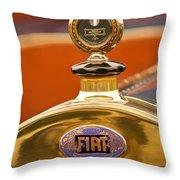 1913 Fiat Type 56 7 Passenger Touring Hood Ornament Throw Pillow by Jill Reger