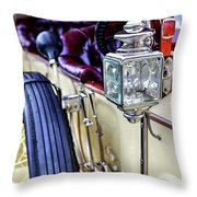 1913 Rolls Royce Silver Ghost Detail Throw Pillow
