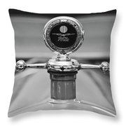 1913 White Gentlemans's Roadster Hood Ornament 2 Throw Pillow