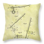 1913 Wrench Patent Throw Pillow