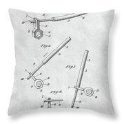 1913 Wrench Patent Illustration Throw Pillow