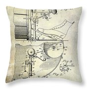 1914 Drum And Cymbal Patent Throw Pillow