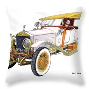 1914 Rolls Royce Silver Ghost Throw Pillow