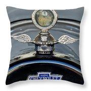 1915 Chevrolet Touring Hood Ornament 2 Throw Pillow