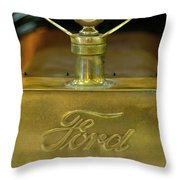 1915 Ford Depot Hack Hood Ornament 3 Throw Pillow