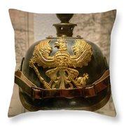 1915 Prussian Artillery Spiked Pickelhaube Helmut Throw Pillow