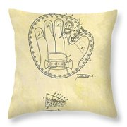 1916 Baseball Glove Patent Throw Pillow