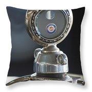 1916 Packard Hood Ornament  Throw Pillow