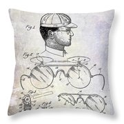 1916 Sunglasses Patent Throw Pillow