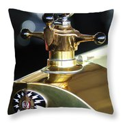 1917 Owen Magnetic M-25 Hood Ornament Throw Pillow