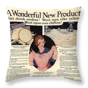 1917 Soap Ad  Throw Pillow