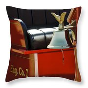1919 Volunteer Fire Truck Eng. Co. 7 Throw Pillow