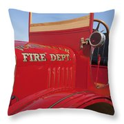 1919 Volunteer Fire Truck Throw Pillow
