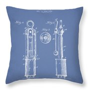 1920 Tuning Fork Patent - Light Blue Throw Pillow