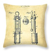 1920 Tuning Fork Patent - Vintage Throw Pillow