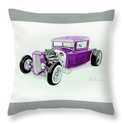 1920s Hotrod Pickup Throw Pillow