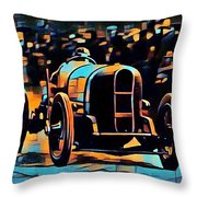 1920's Racing Car Throw Pillow